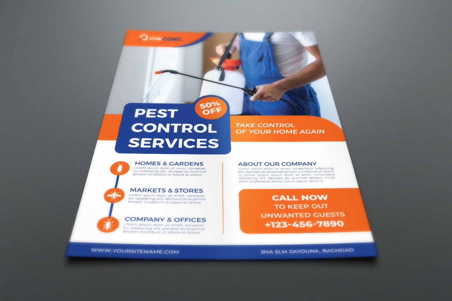 Pest Control Services Flyer Template example image 2
