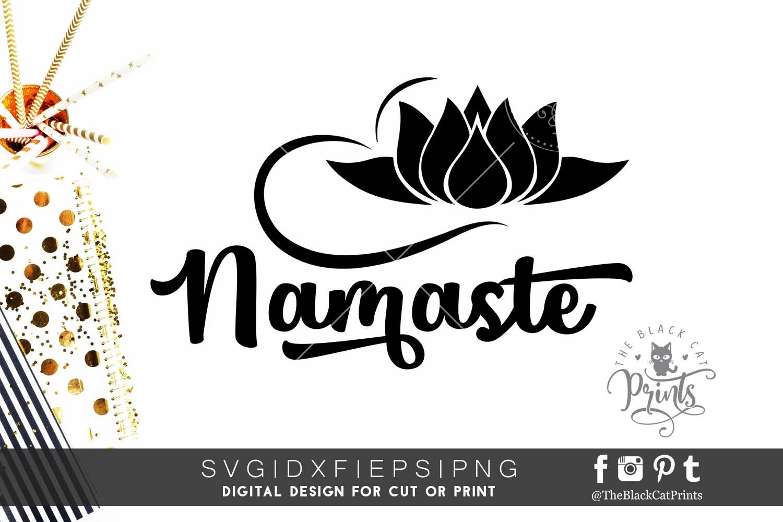 Namaste SVG PNG EPS DXF | Yoga cut file example image 1