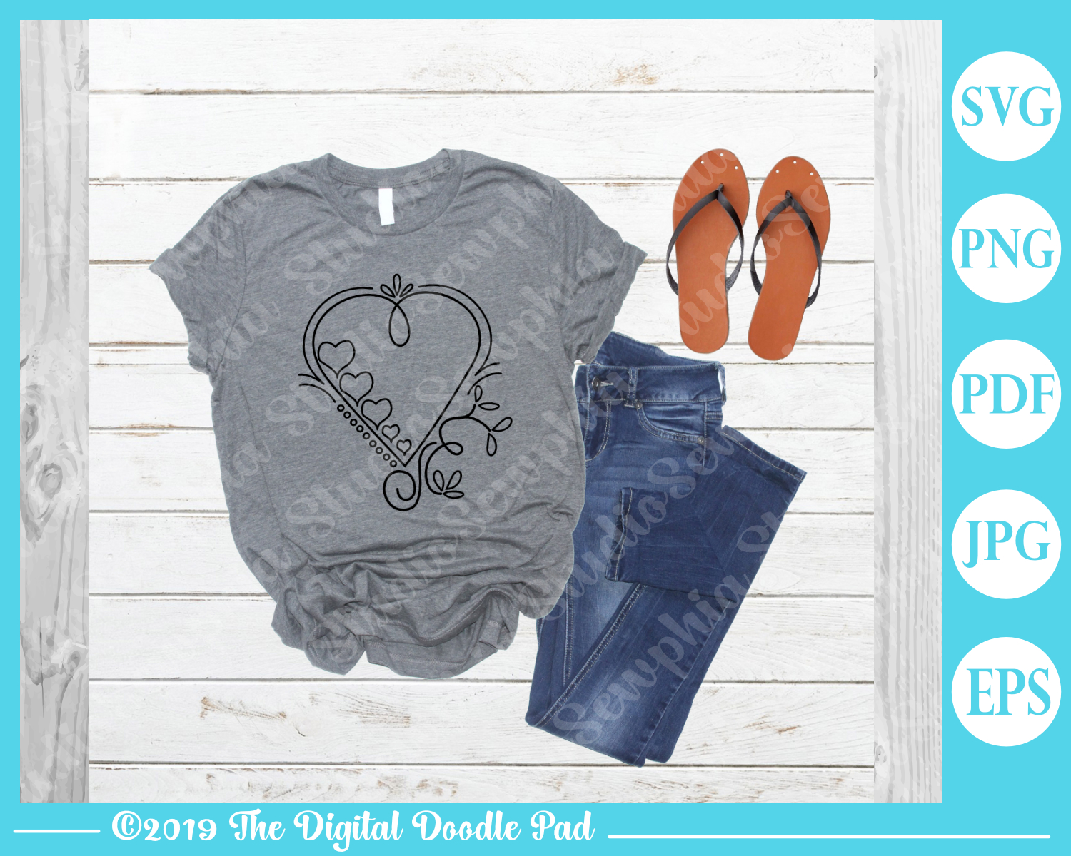 Doodle Heart Set by Digital Doodle Pad example image 4