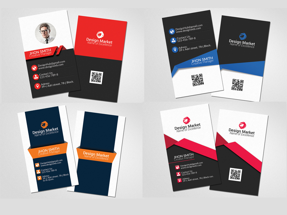 20 Vertical & Horizontal Business Cards Bundle example image 2