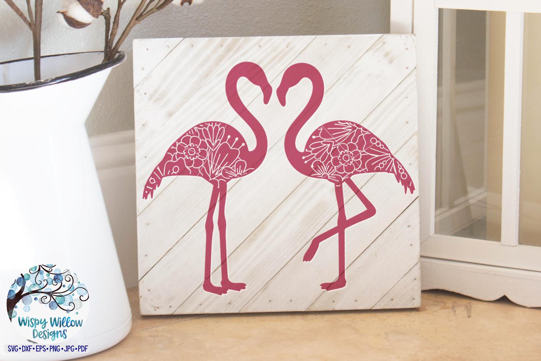 Double Floral Flamingo Mandala SVG Cut File   Summer SVG example image 2