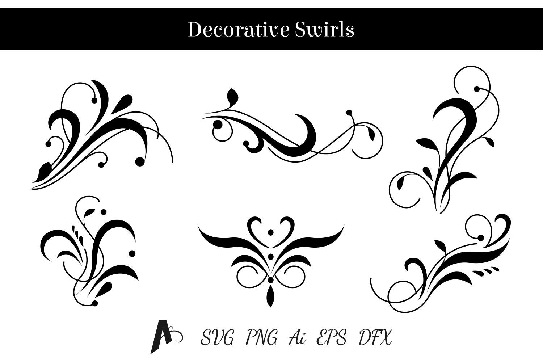 Decorative swirls design. Floral vector elements. example image 1