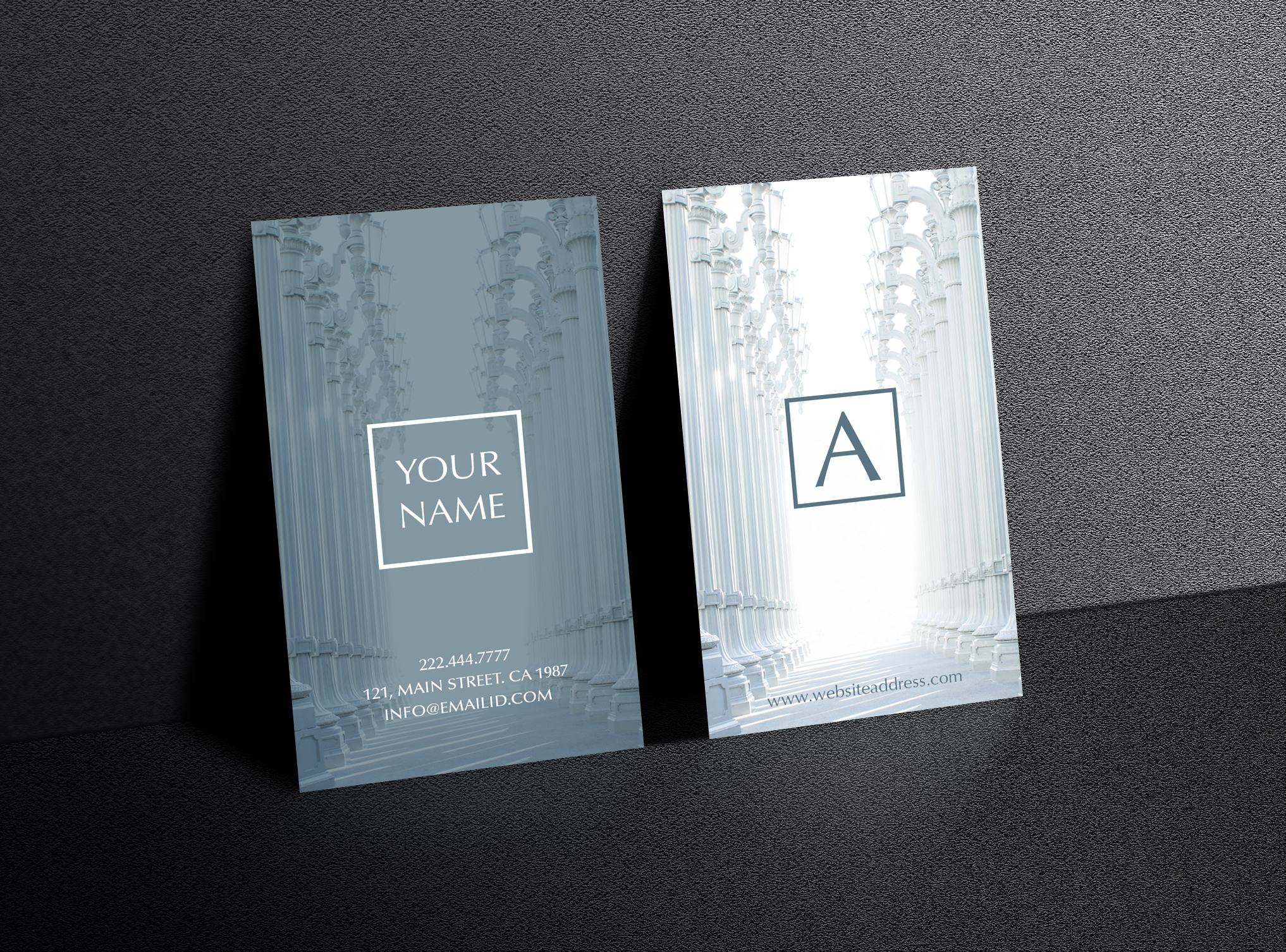 Beautiful rich texture business card example image 3