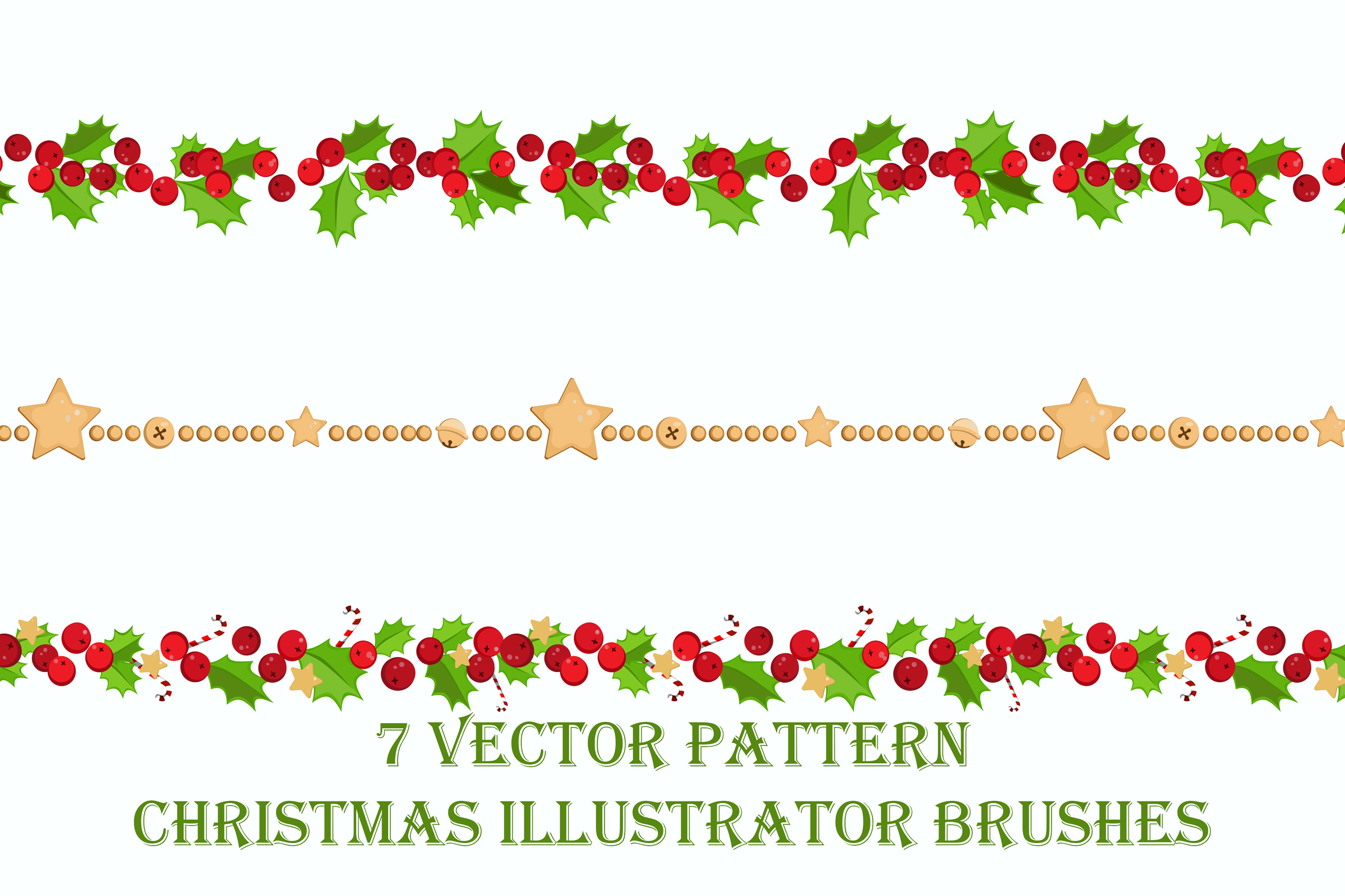 7 Vector Pattern Christmas Brushes example image 4