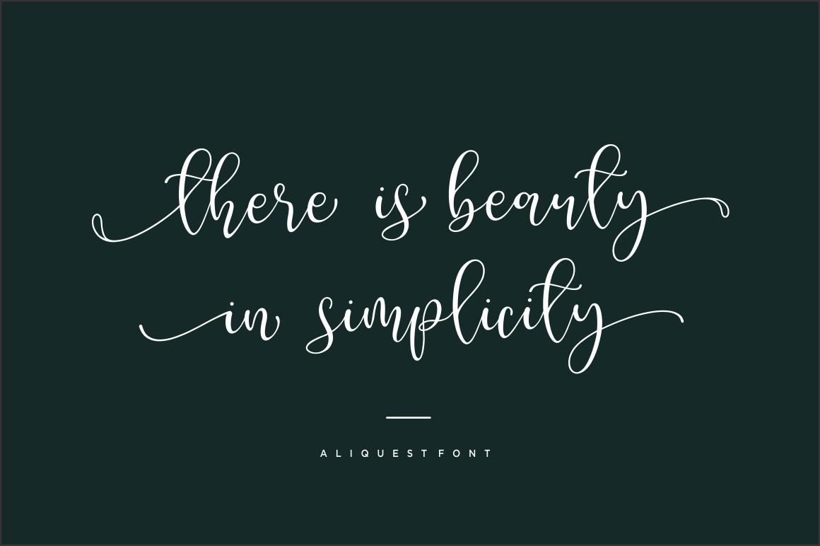 Aliquest Script Font example image 7