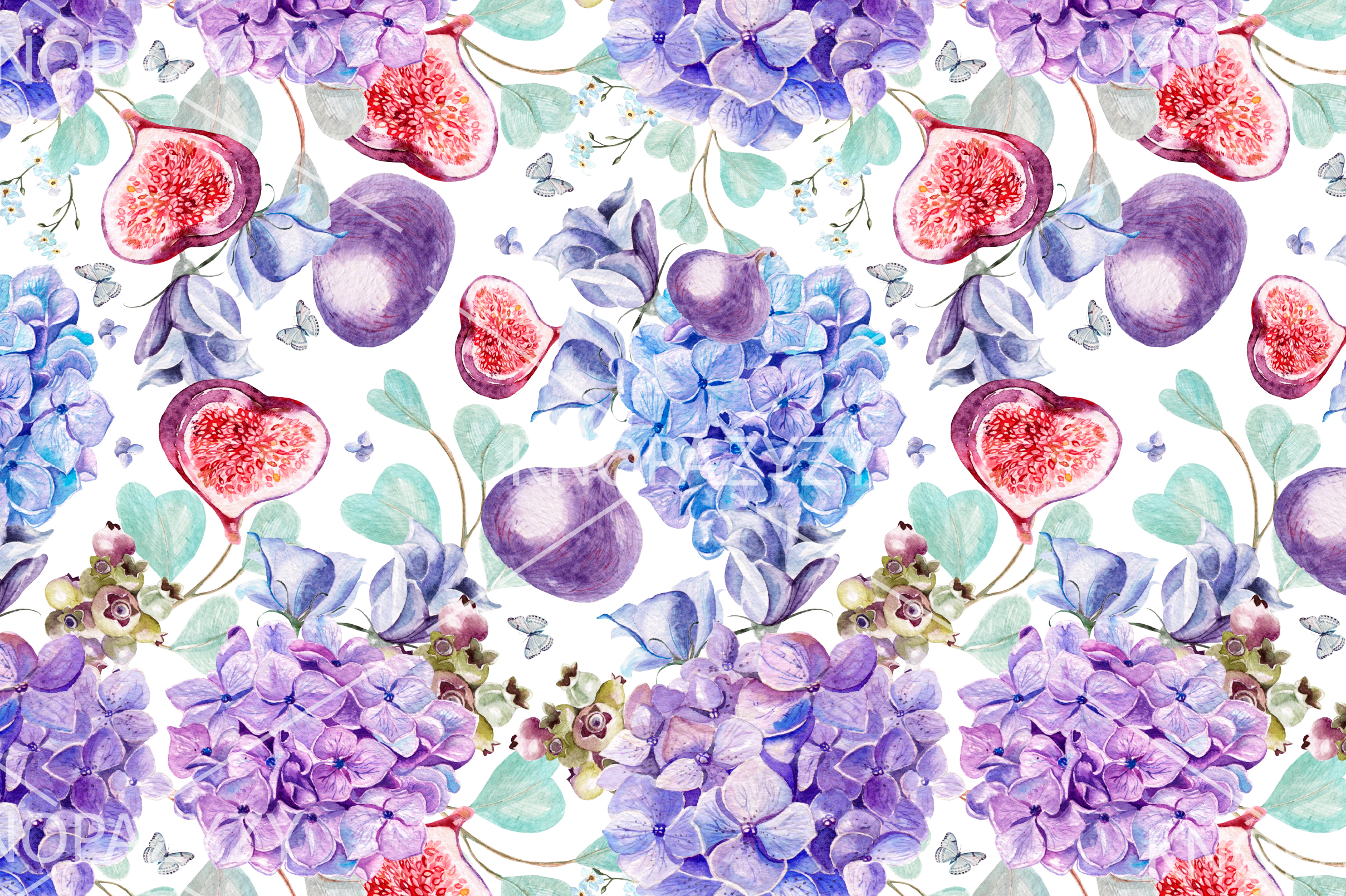 6 Hand Drawn Watercolor PATTERNS example image 7