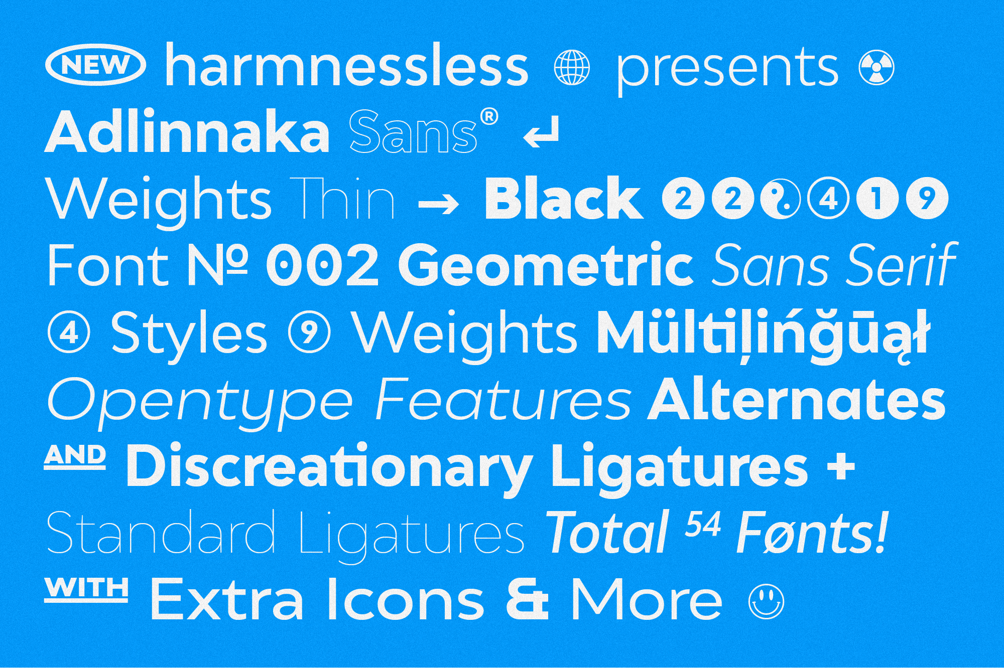 Adlinnaka Sans - Font Family example image 2