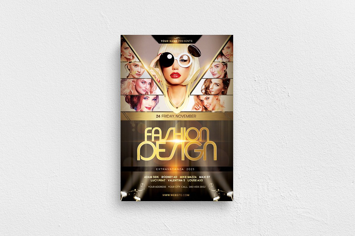 Fashion Design Flyer Template example image 1