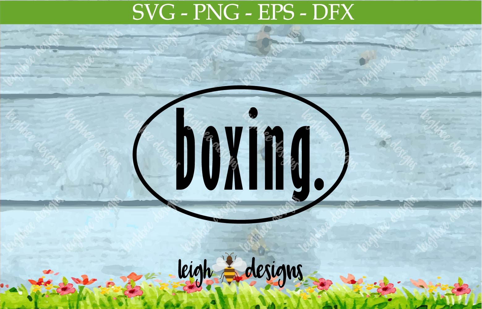 Boxing Oval SVG/DFX/PNG/EPS File  example image 3