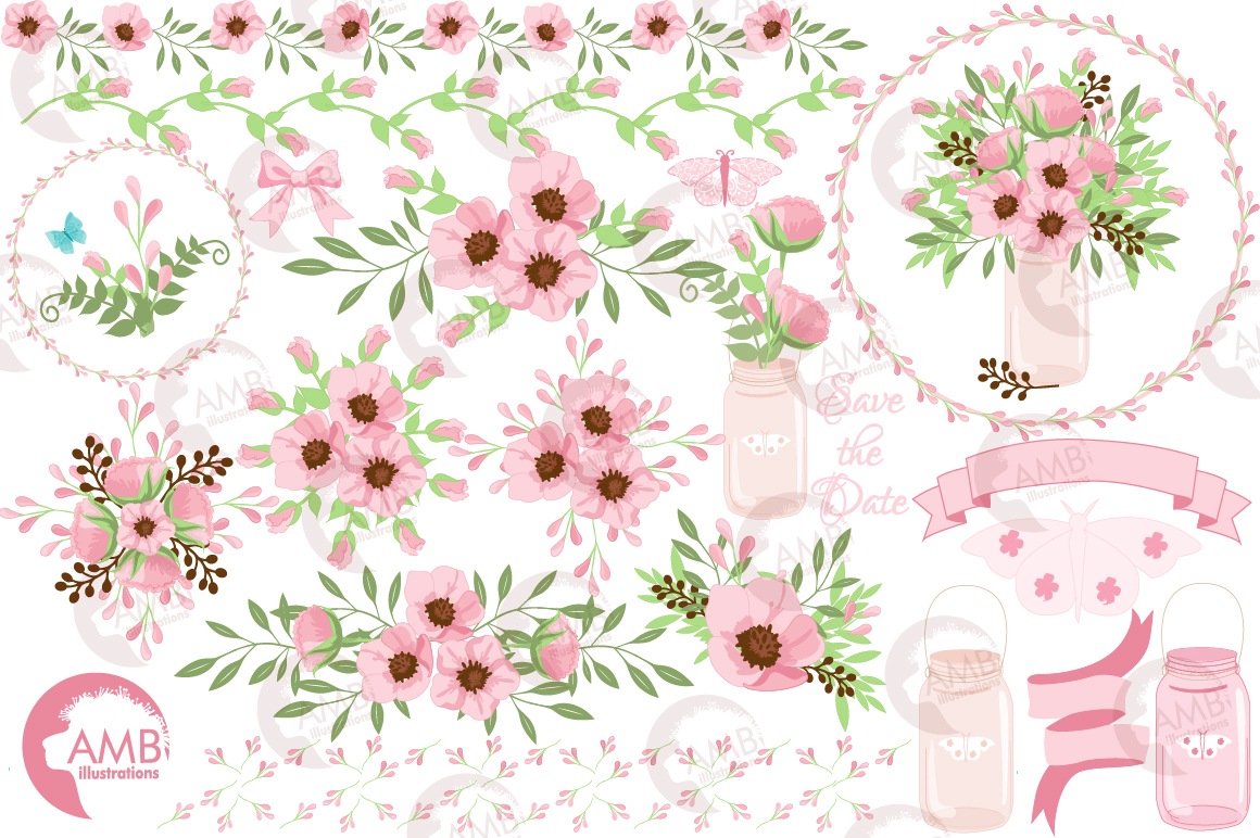 Country floral graphics and illustrations example image 5