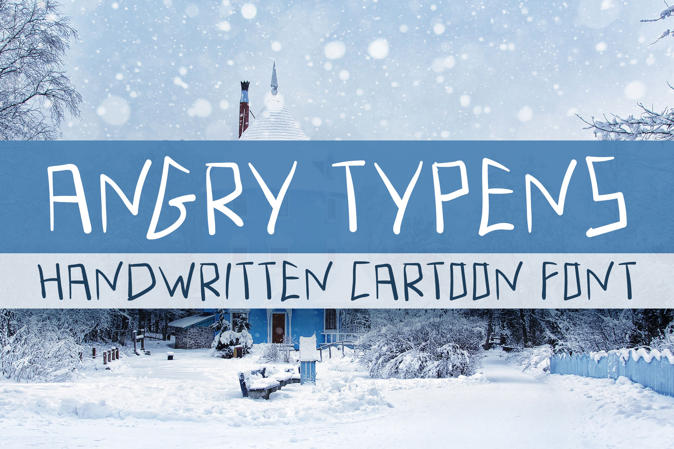 Angry Typens - Handwritten Font example image 1