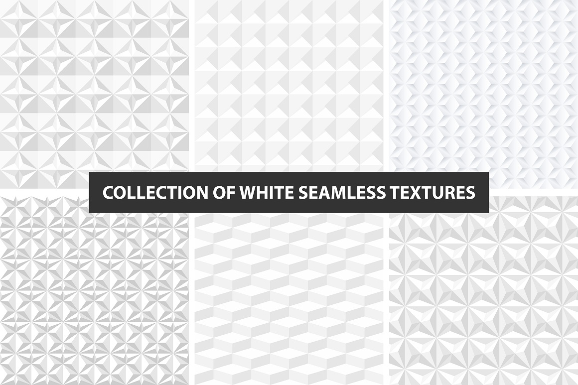 White decorative seamless textures example image 1