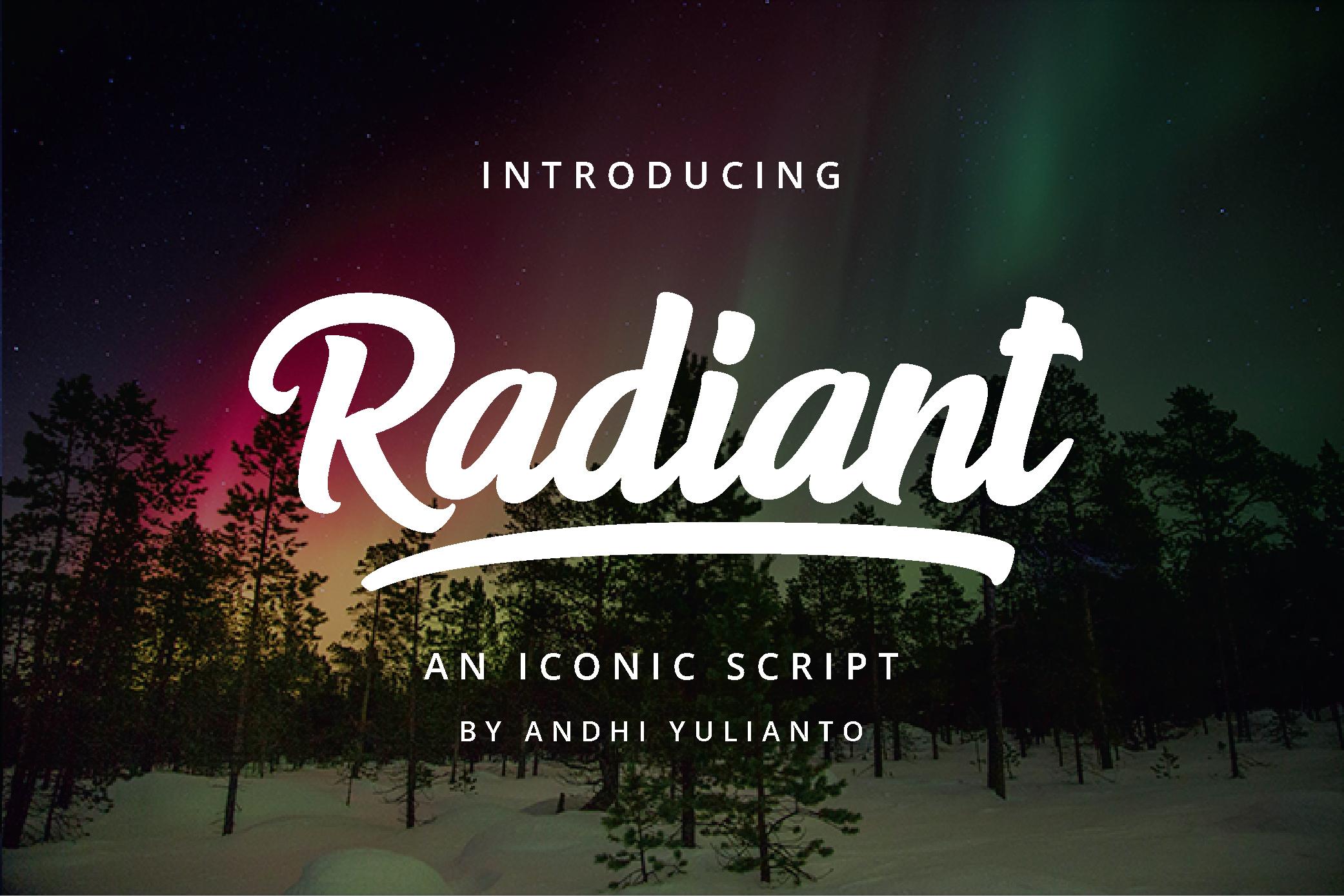 Radiant Iconic Script example image 11