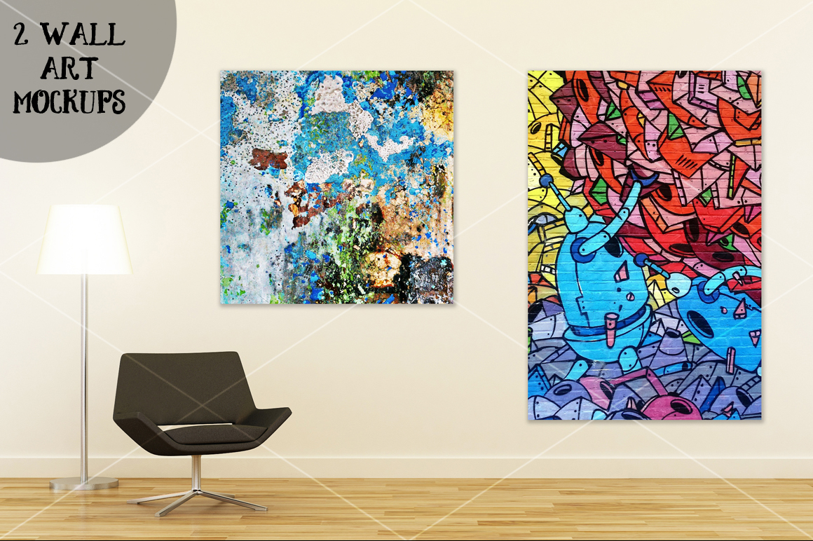 Wall art mockup V4 example image 1