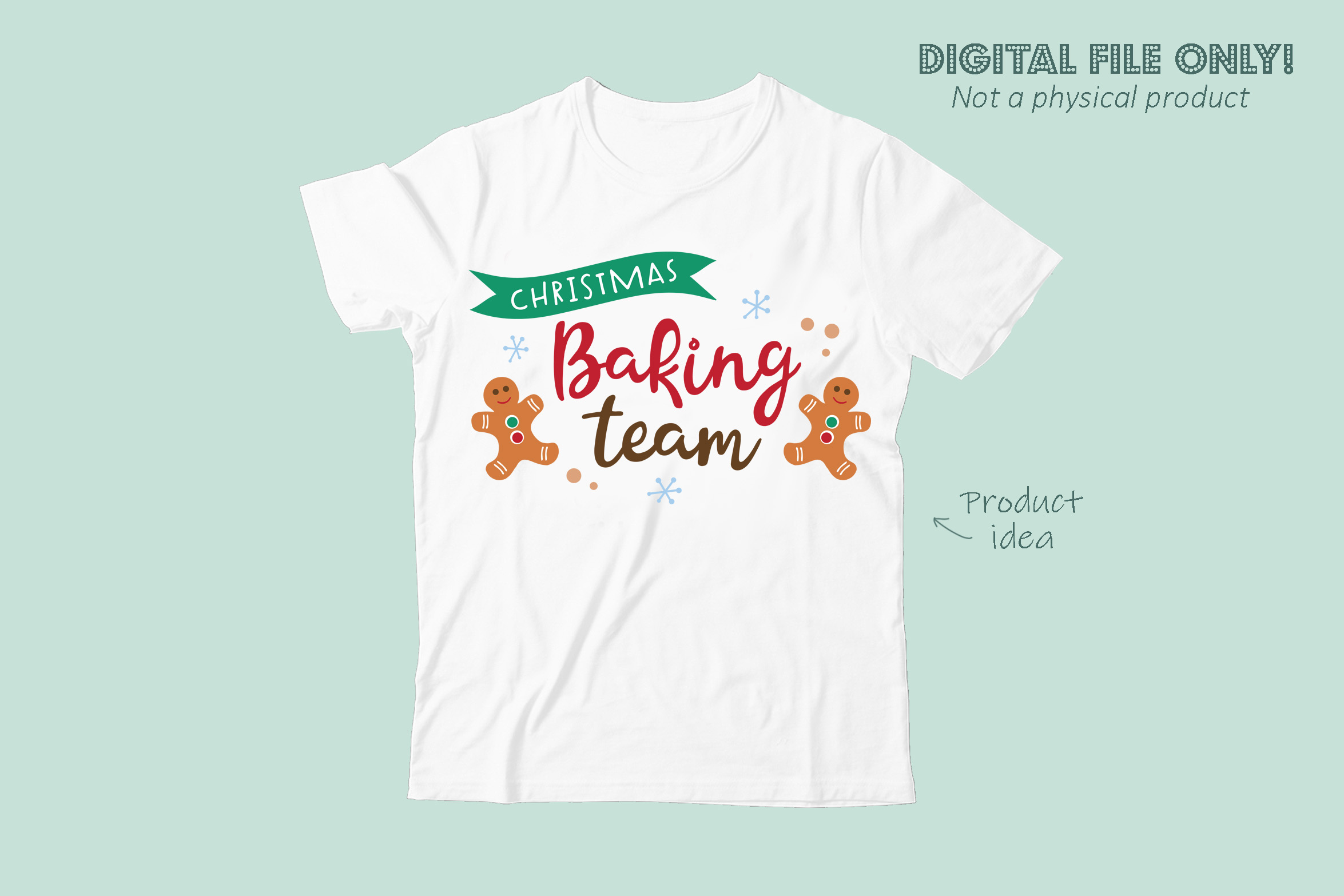 Christmas baking team SVG file example image 3