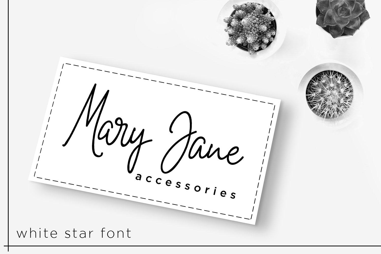 White Star- Chic Handwritten font example image 6