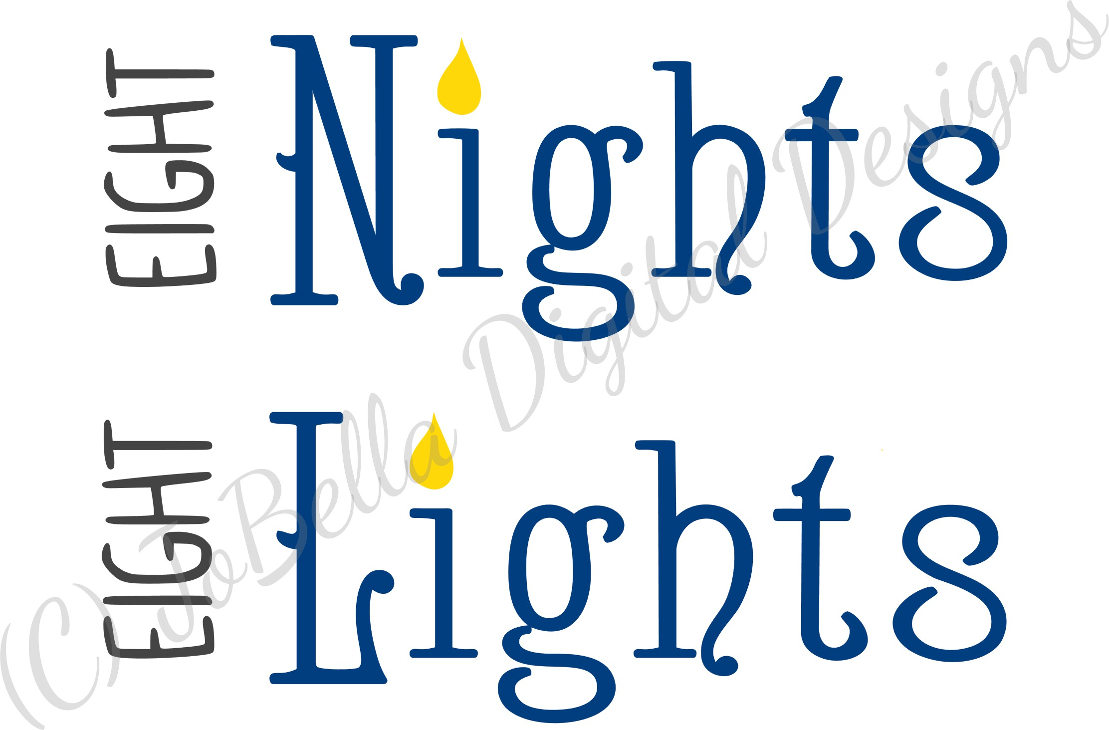 Eight Nights Hanukkah SVG, Printable and Sublimation PNG example image 5