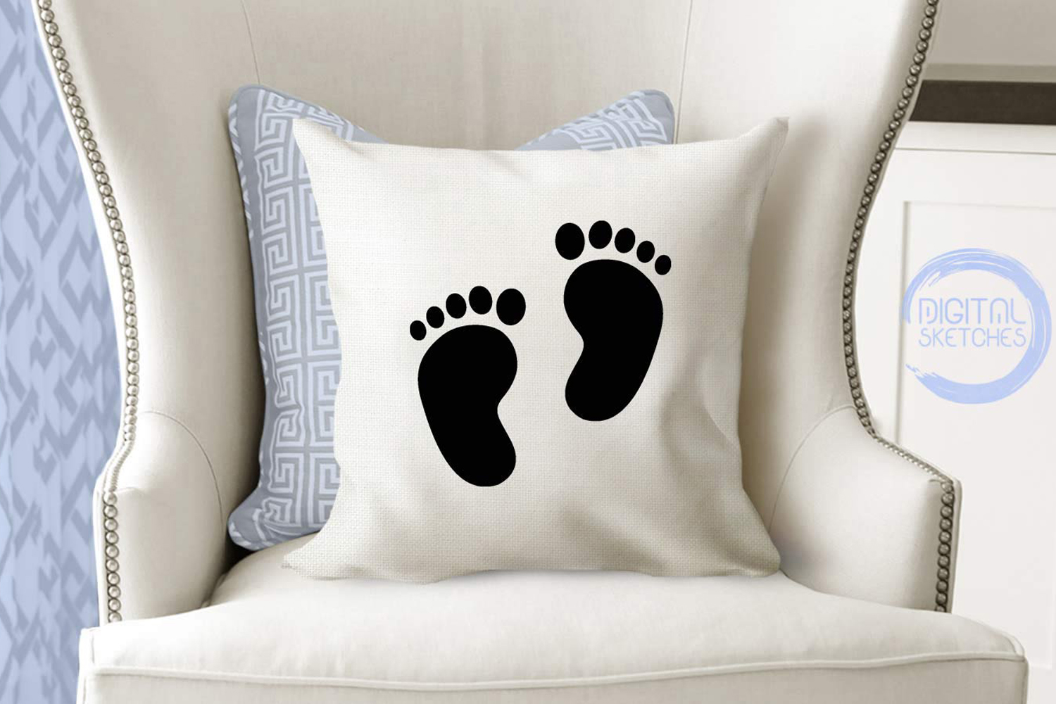 Baby Feet Cut File Vector Graphics example image 3