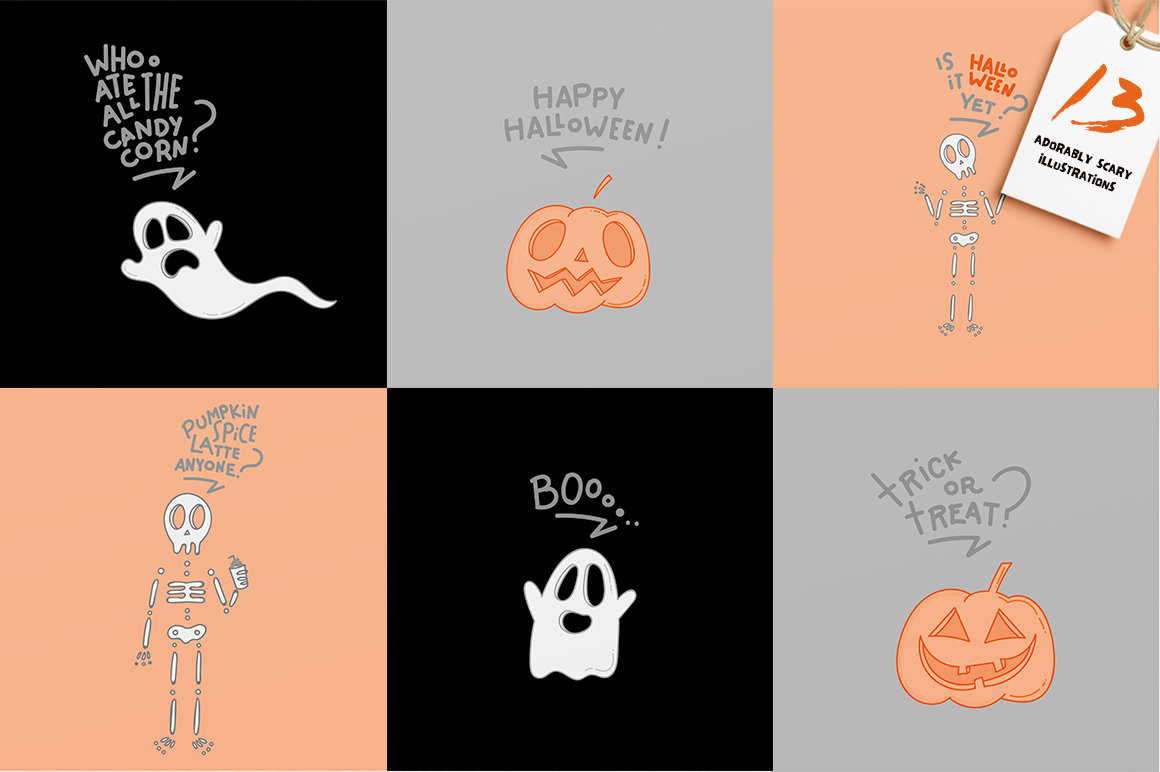Adorably Scary Halloween Pack example image 2