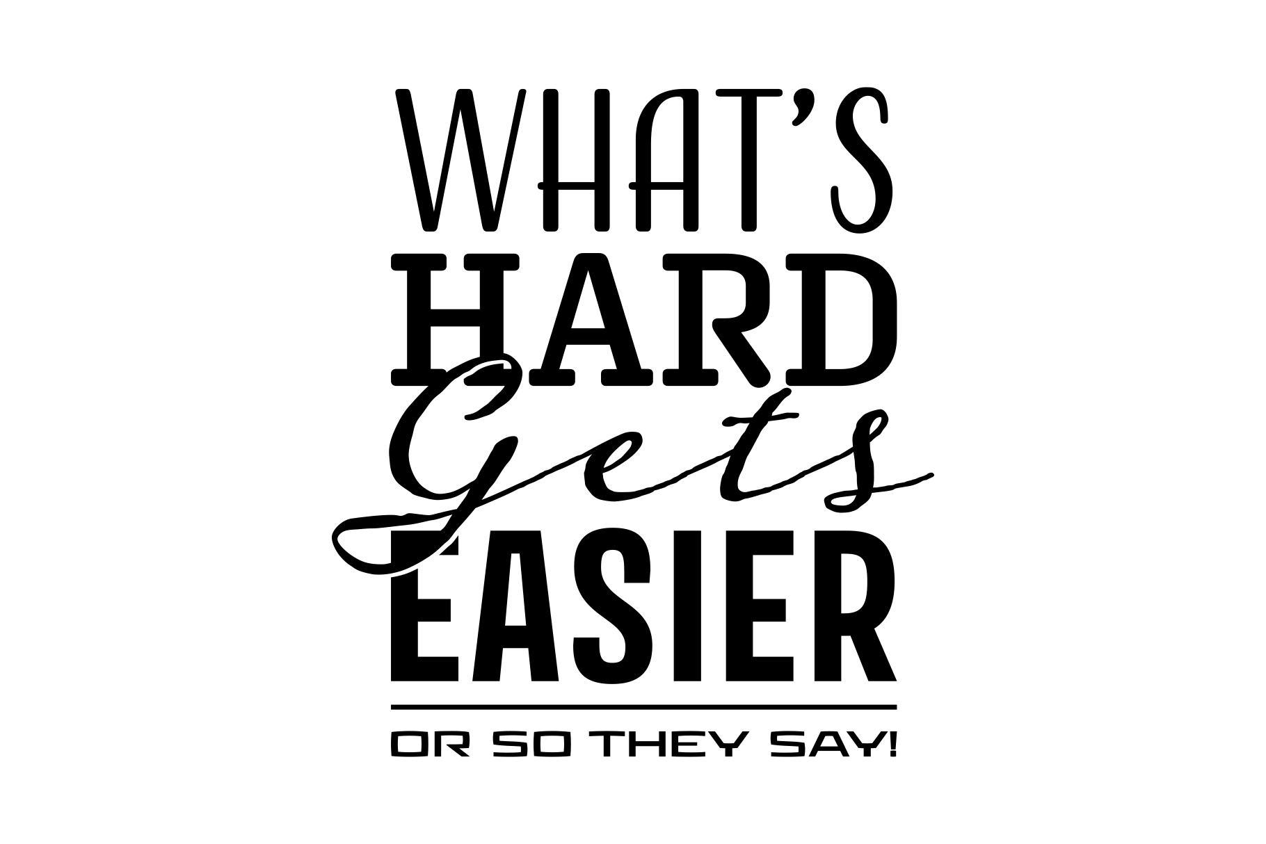 Whats Hard Gets Easier example image 2