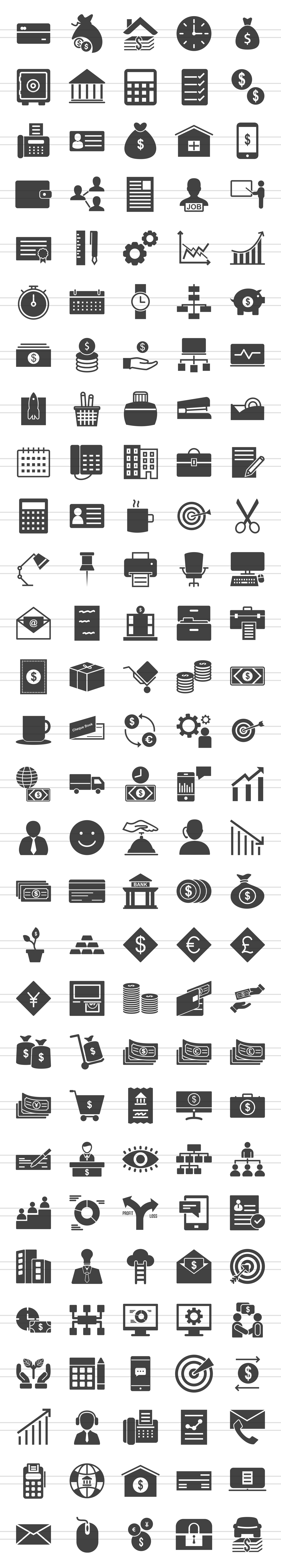 146 Business & FInance Glyph Icons example image 2