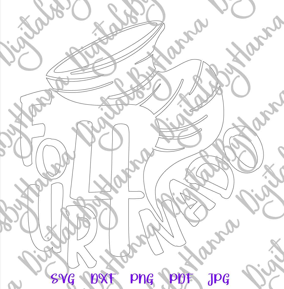 Fournado 4th Birthday Outfit Sign Print & Cut File PNG SVG example image 7