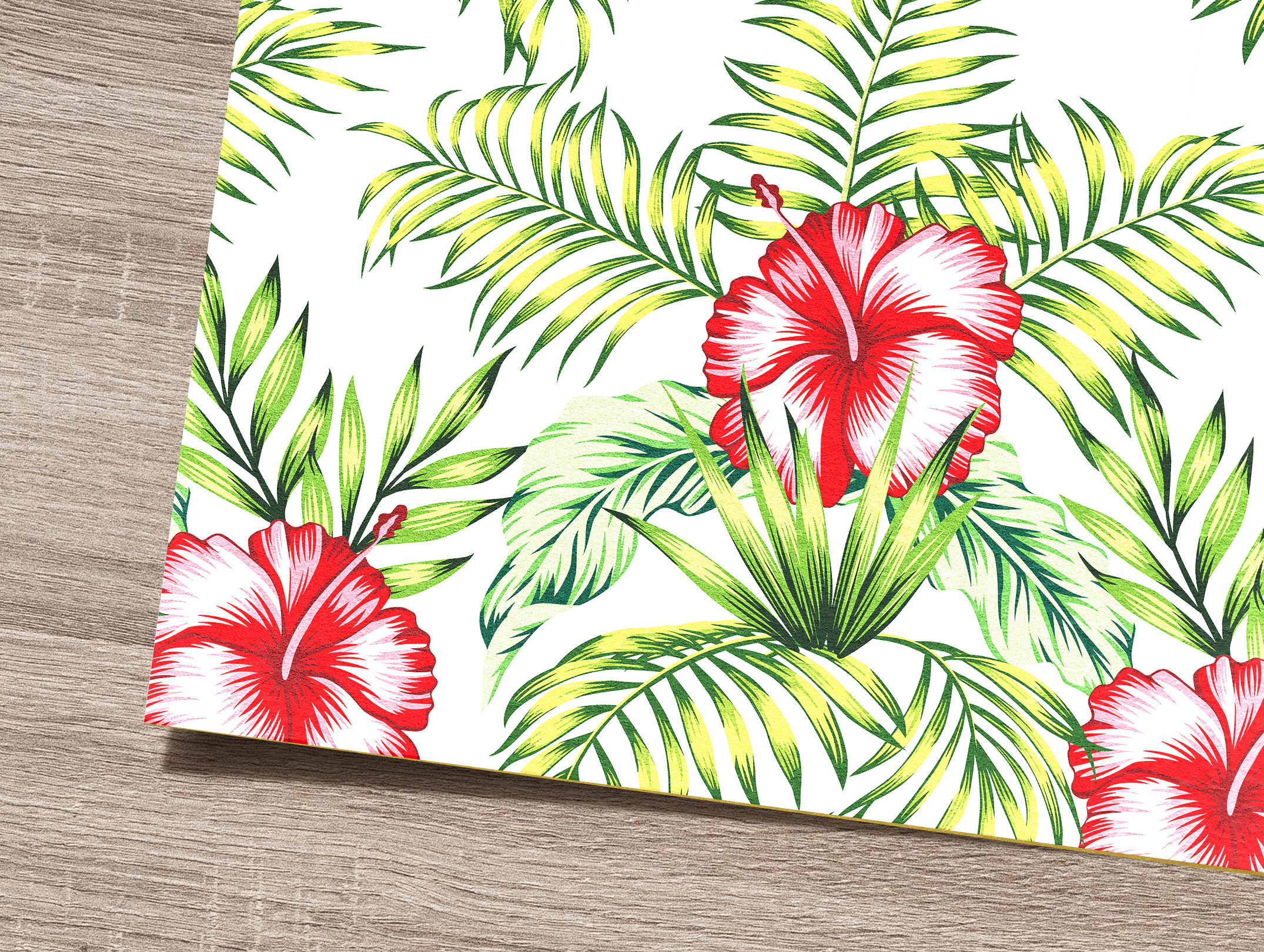 Tropical flowers and leaves pattern. Seamless design. example image 8
