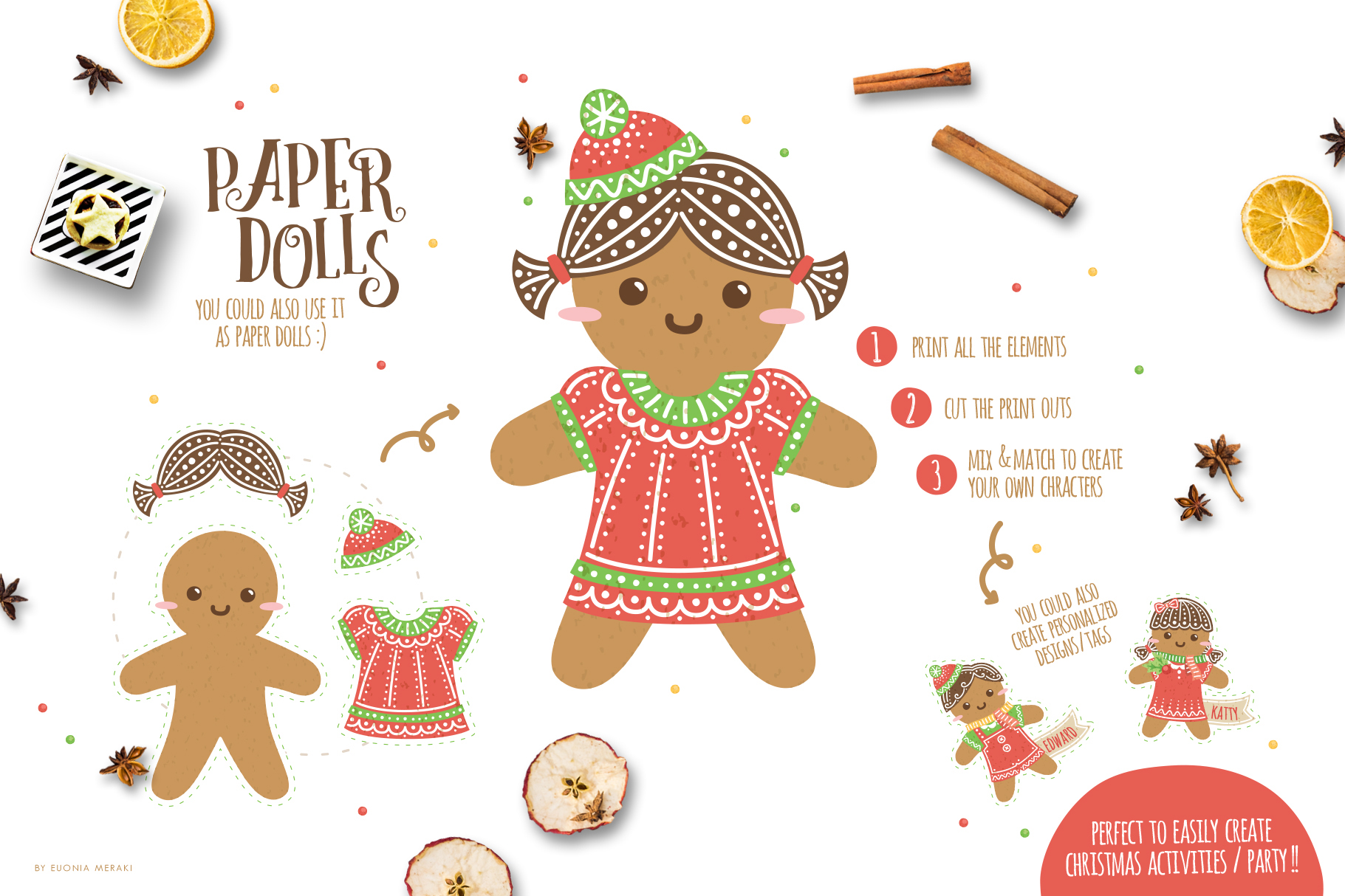 Gingerbread Boys and Girls - Christmas Character Creator example image 3
