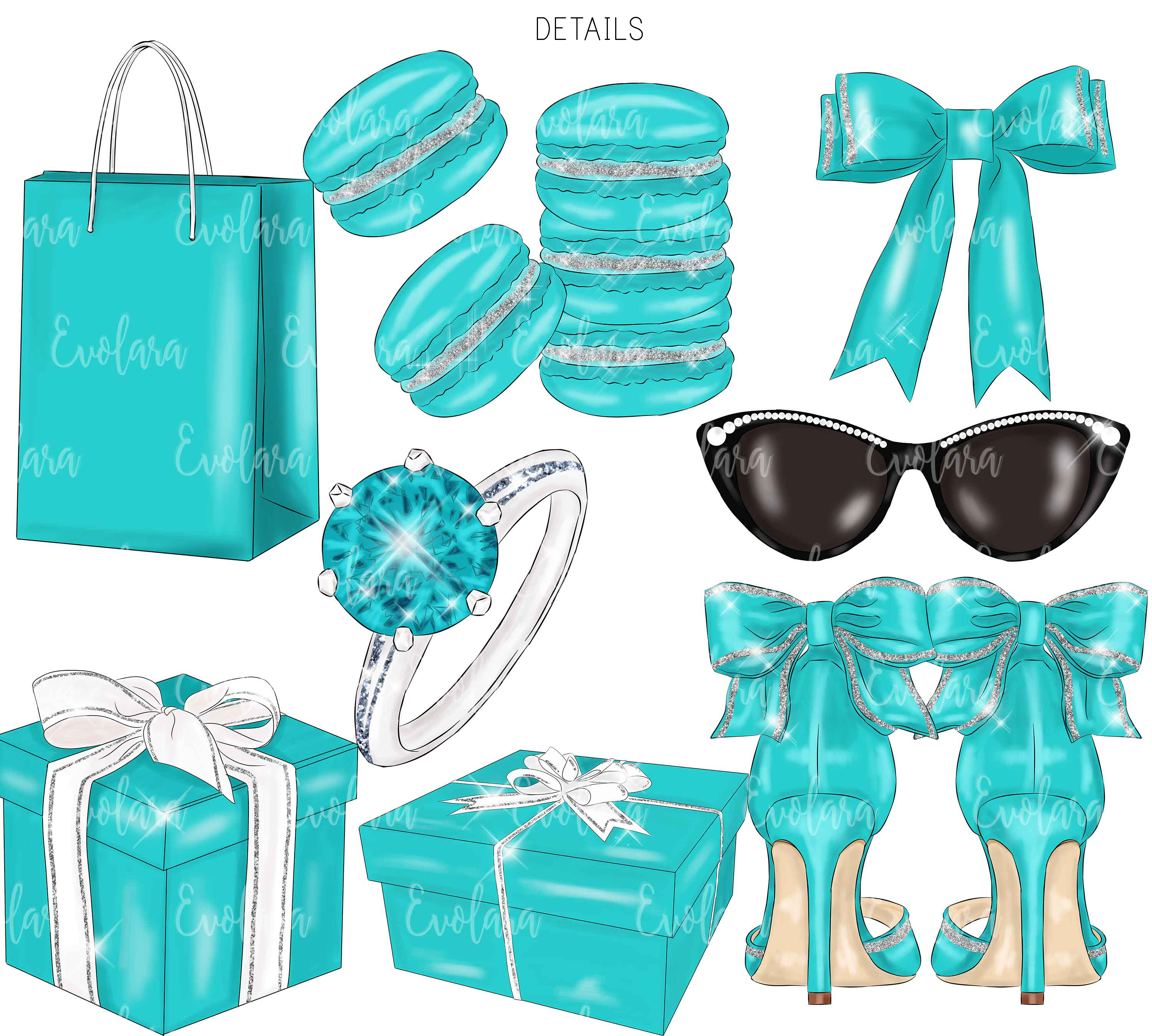 Blue Mint Clipart Fashion Illustrations Breakfast At Clipart example image 4