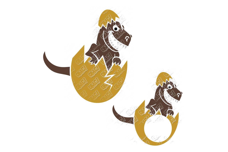 Dinosaur Easter SVG Basket in SVG, DXF, PNG, EPS, JPEG example image 3