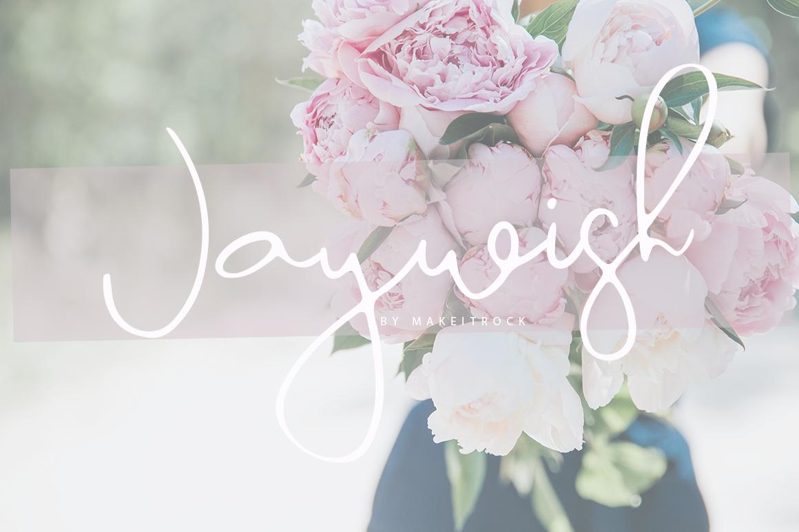 Jaywish | A classy script example image 8