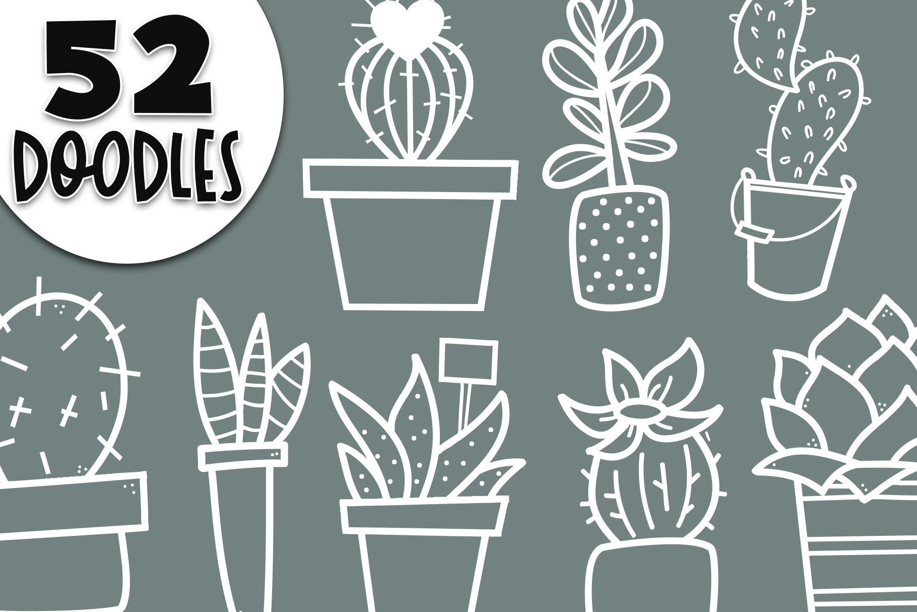 Fancactus - A Cactus & Succulent Doodle Font example image 4