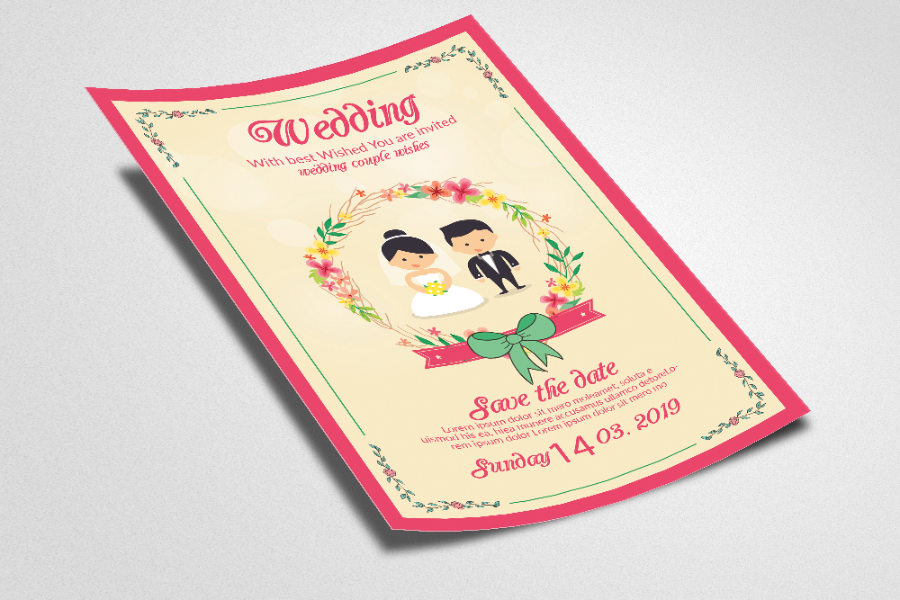 Wedding Invitation Flyer Template example image 2