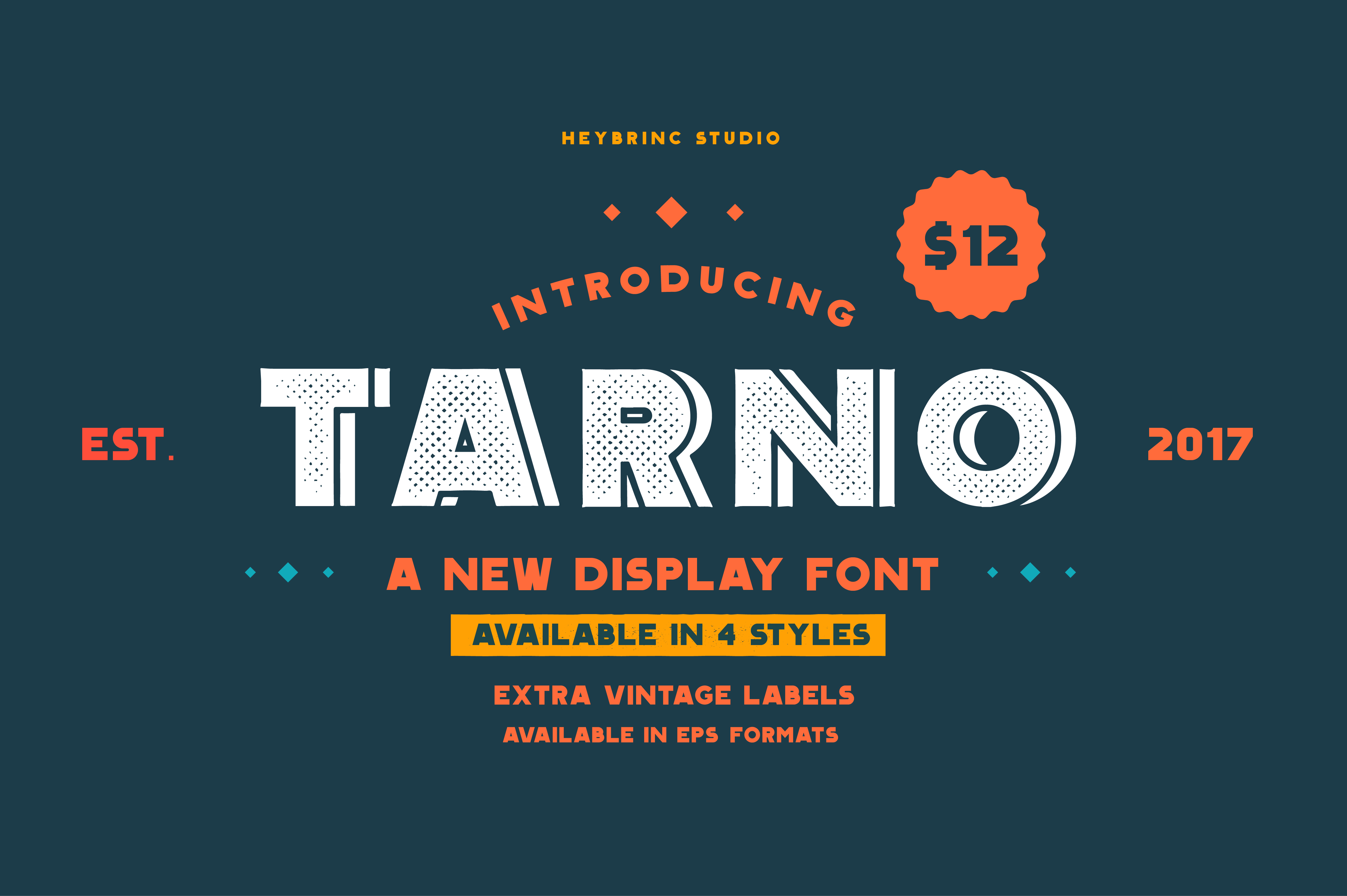 Tarno Display Font example image 1