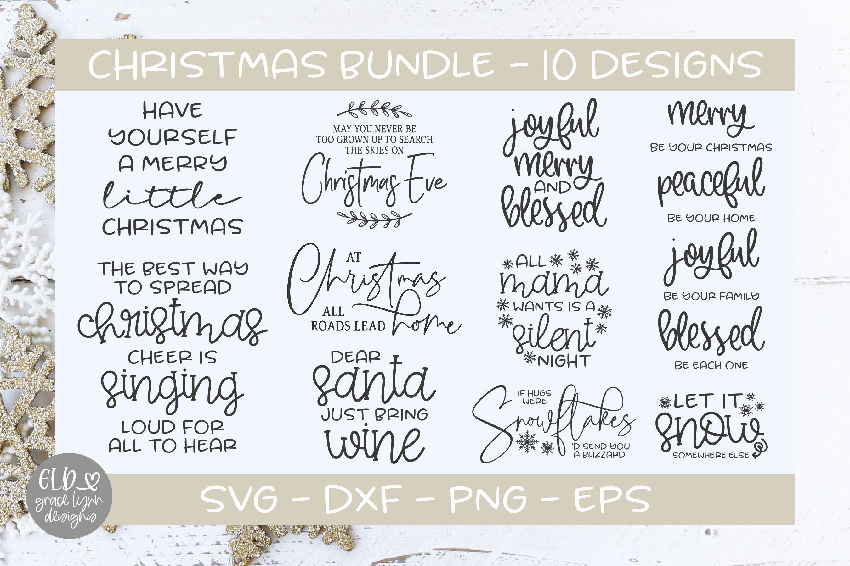 Farmhouse Christmas Bundle - 95 Christmas Designs example image 4