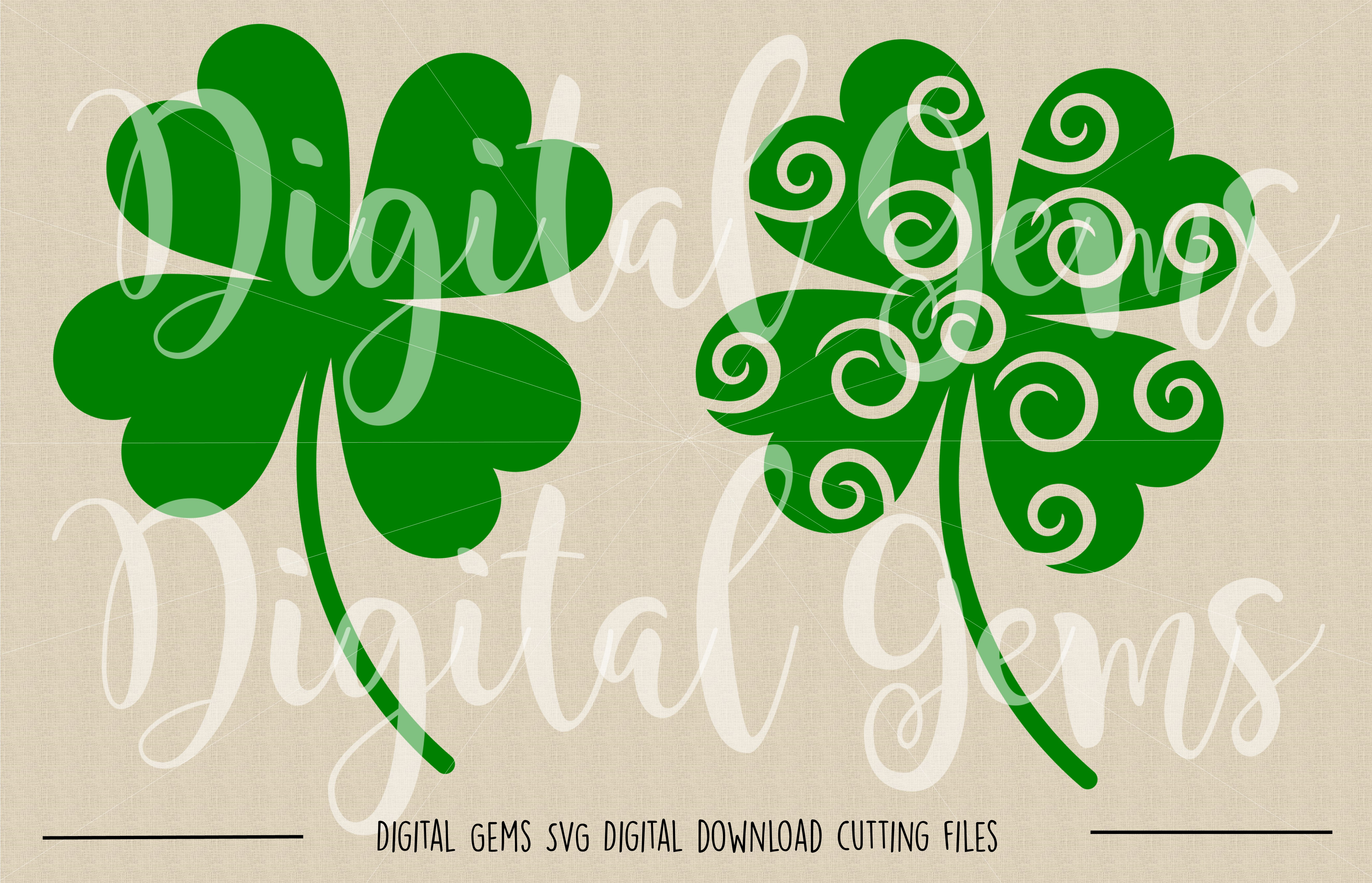 Clover SVG / DXF / EPS / PNG files example image 2
