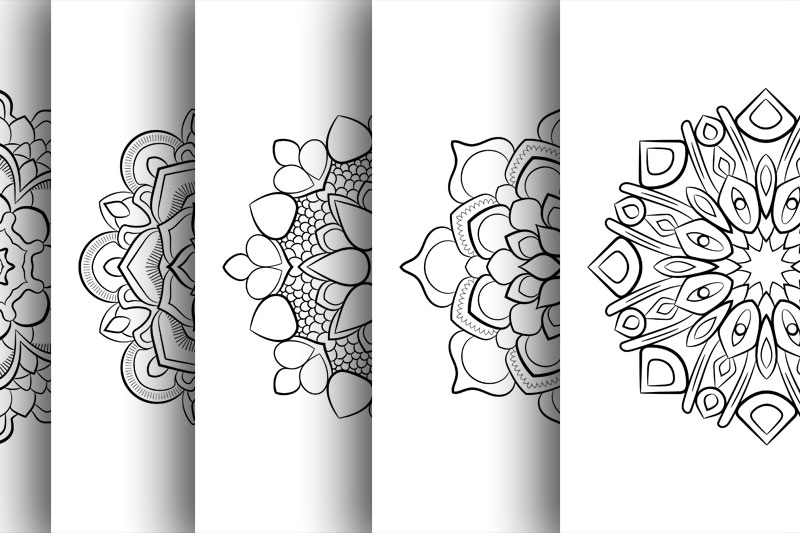 Coloring with 50 floral mandalas example image 5