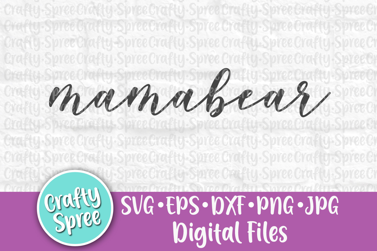 Mamabear SVG PNG DXF Cut File for Crafters example image 1