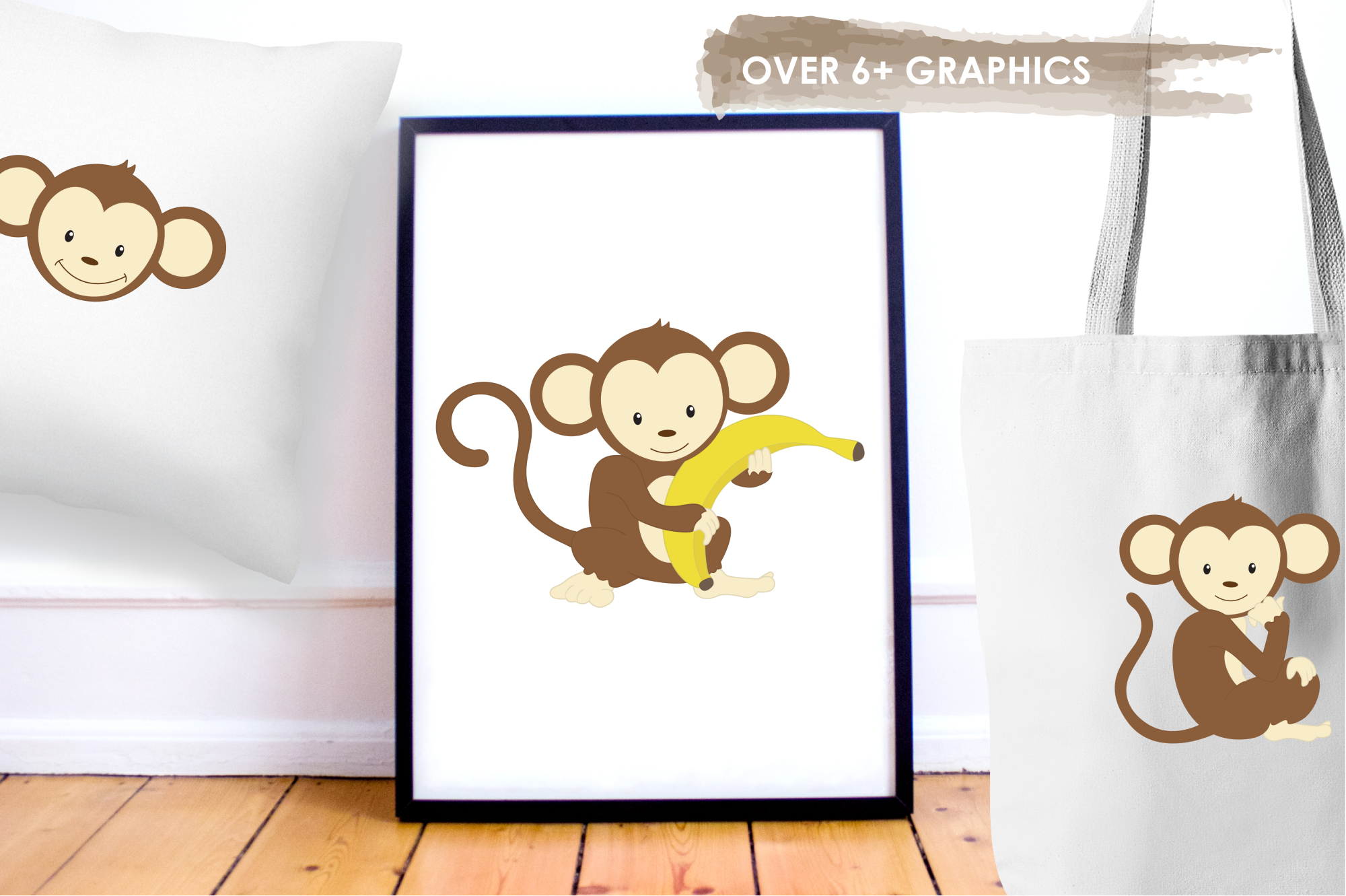 Monkeys graphics and illustrations example image 5