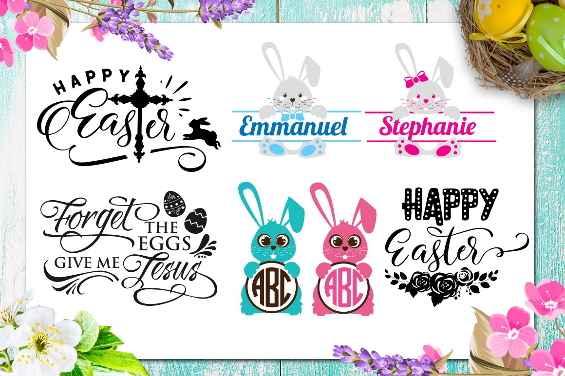 Easter Bundle - 30 Easter SVG files Bundle Easter SVG file example image 3