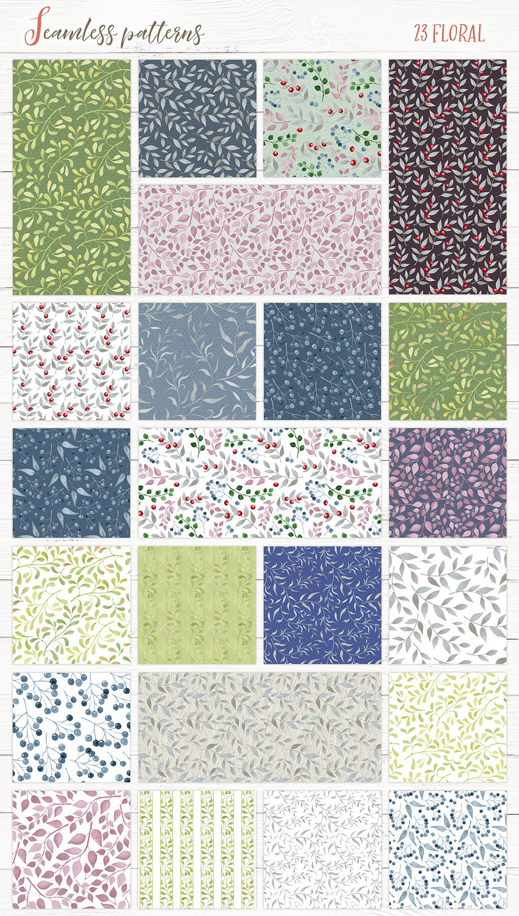 Watercolor Patterns and Textures example image 2