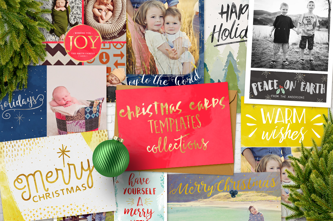 Christmas Cards Templates Collection example image 1