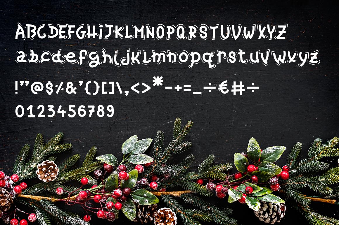 Christmas Font - Christmas Candy example image 6
