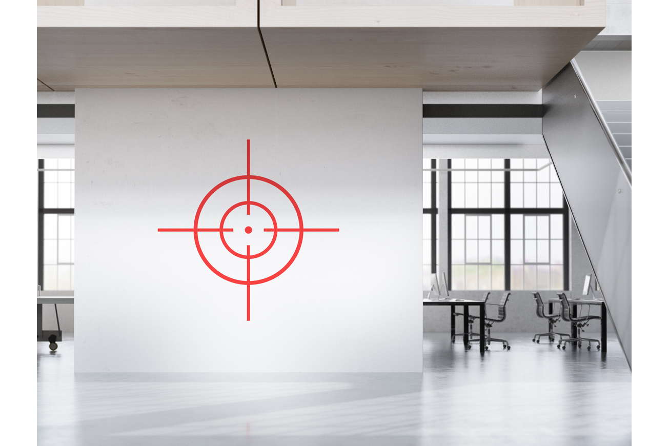 Collection of red target icons. example image 3