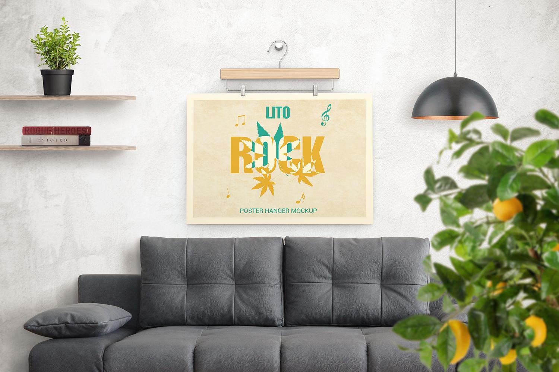Poster Hanger Mockup example image 3