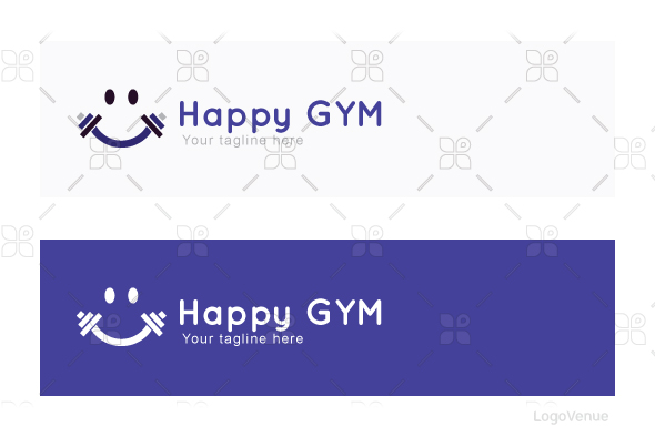 Happy Gym - Health & Fitness Stock Logo Template example image 2