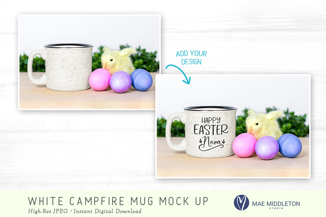 Campfire mug mock up for Easter example image 2