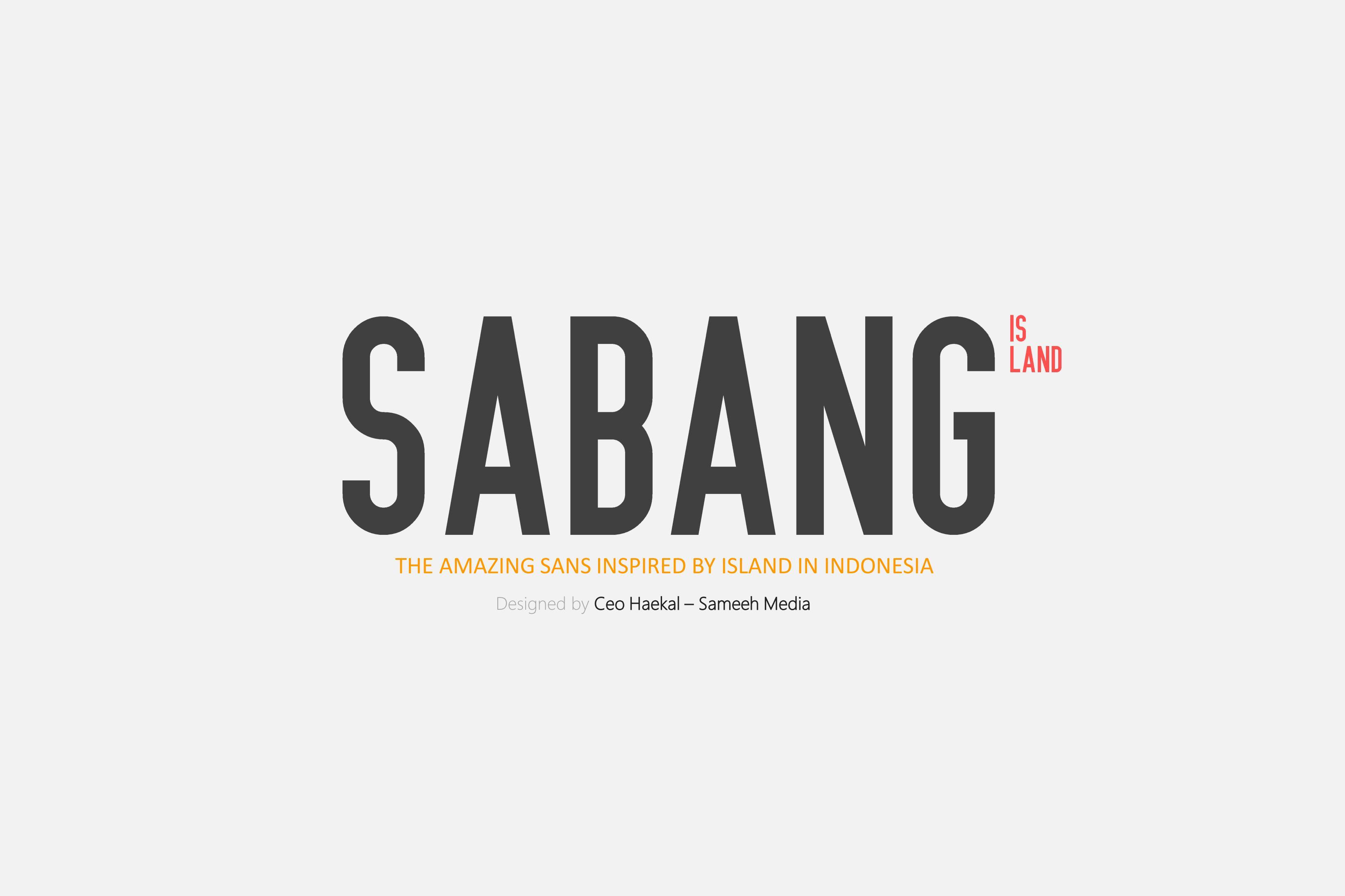 SALE! Sabang Island Typeface example image 1