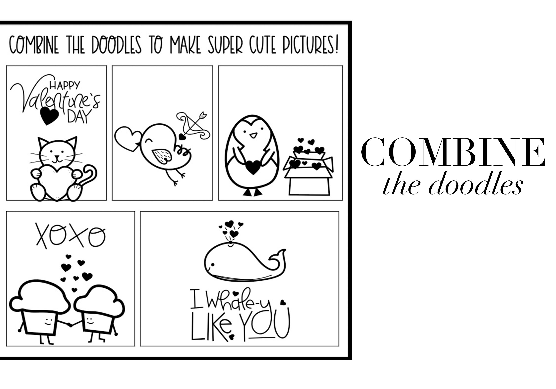 Valentine - Valentine's Day Doodle Font  example image 4