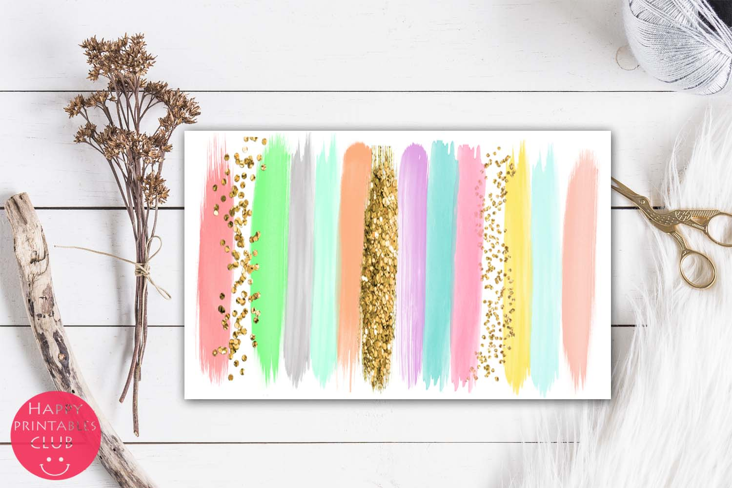 Pastel Colors Brush Strokes- Pastel Brush Strokes Clipart example image 4